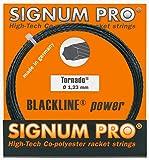 Signum Pro Tornado - Cuerda para Raqueta de Tenis (12 m) Negro Negro Talla:1,23
