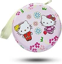 Jadebin Cute Kitty Zipper Round Purse Wallet Pouch Bag Key Holder for Headphones/Coin