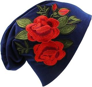 Gorro De Punto,Vintage Cálido Invierno Aviador Cap 2 Patrón De Flores De Color Rojo Sólido Azul Casual Skull Sombreros Hermosa Regalos Para Mujeres Hombres Pareja Fashion Beanie Hat Cap De Esquí