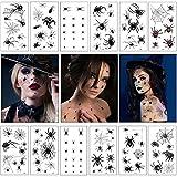 Hook 12 Spinnen Tattoo Gesicht,Spinnentattoos,Halloween Spinnen Tattoo,Spider Tattoo,Halloween...