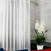 Tela de poli/éster Resistente al Moho y antimoho SEVEN HITECH Cortina de Ducha con 12 Ganchos 180 x 180 cm