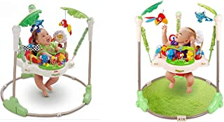 HRX Electric Baby Walker And Jumper With Light And Music Jumperoo Baby Learning Jump Walker For Baby Under (Age 2) - Green