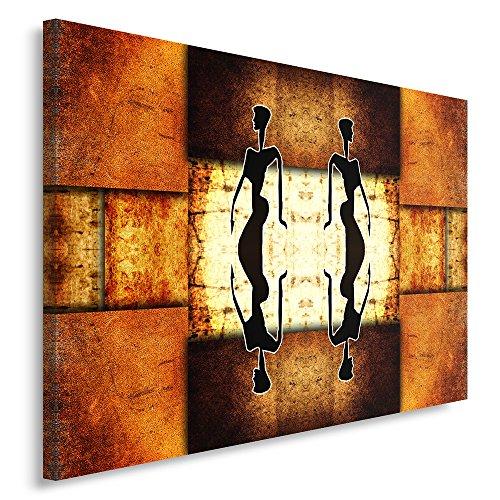 Feeby Frames, Cuadro en Lienzo, Cuadro impresión, Cuadro decoración, Canvas de una Pieza, 40x50 cm, Moderno, Oriente, ÁFRICA, Mujeres, PARTONES GEOMÉTRICOS