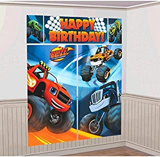 Blaze and the Monster Machines Scene Setters Wall Decorating Kit, Birthday
