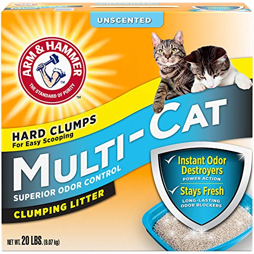 Arm & Hammer Multi-Cat Clumping Litter Unscented, 20lb