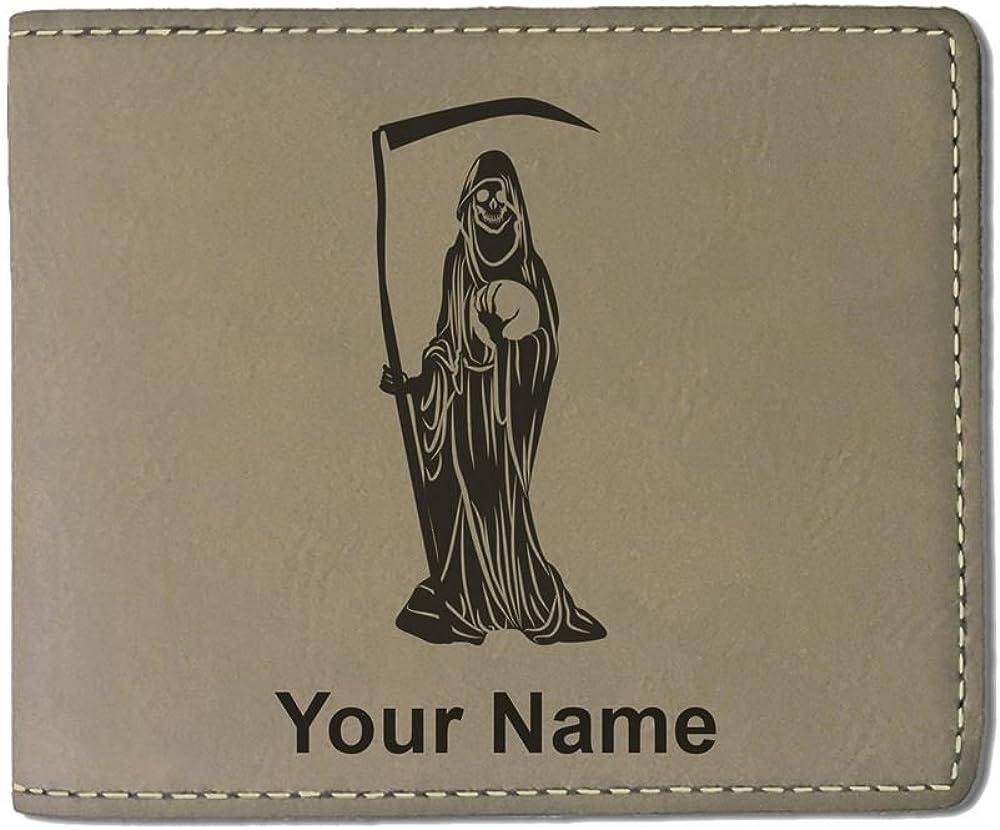 Santa Muerte LaserGram Bi-Fold Wallet Personalized Engraving Included