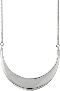 Shinola Detroit - Sterling Silver Large Crescent Pendant Necklace