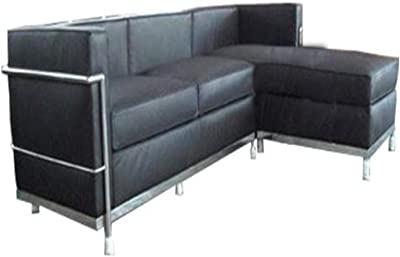 RetroMod Cubo2 Sectional Sofa, Italian Black