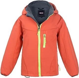 Boys Girls Hooded Windbreaker Fleece Lined Softshell Jacket