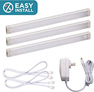 Black and Decker Office Products LED Under Cabinet Lighting, 3-Bar Kit, 9