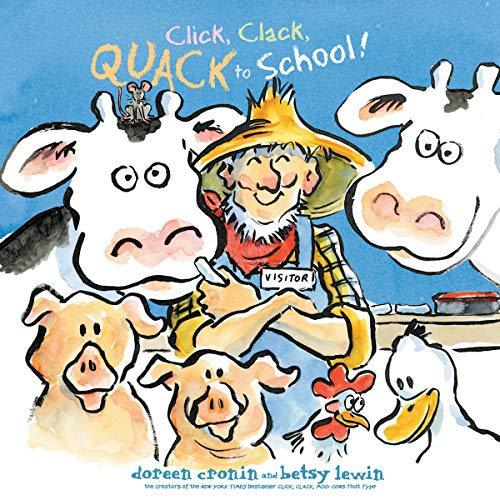 Click, Clack, Quack to School! audiobook cover art
