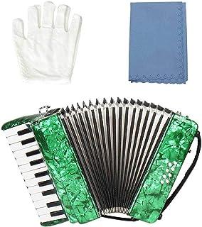 Famus Accordéon Basse, 22 Touches Magnifiques Exquis Anti-Corrosion Durable Flexible pour Les étudiants débutants Piano Ac...