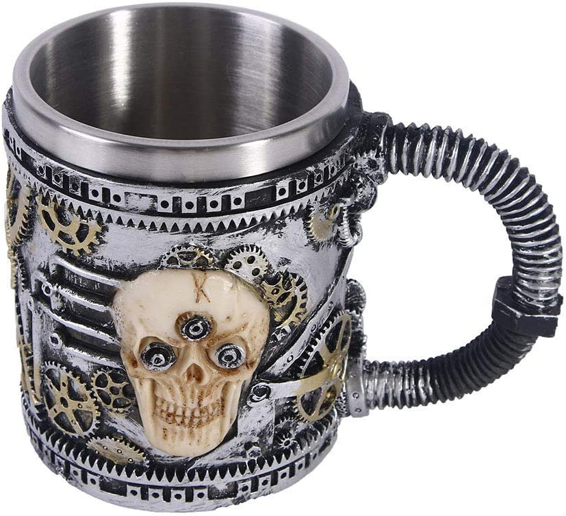 Sale Special Price Horror Decoration Mark Coffee Houston Mall Skull Cup Stainless Resin Win Beer
