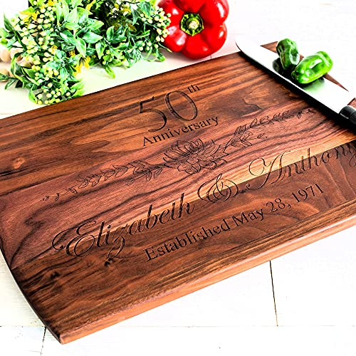 Personalized Cutting Board, Anniversary for any year, Engagement gift...