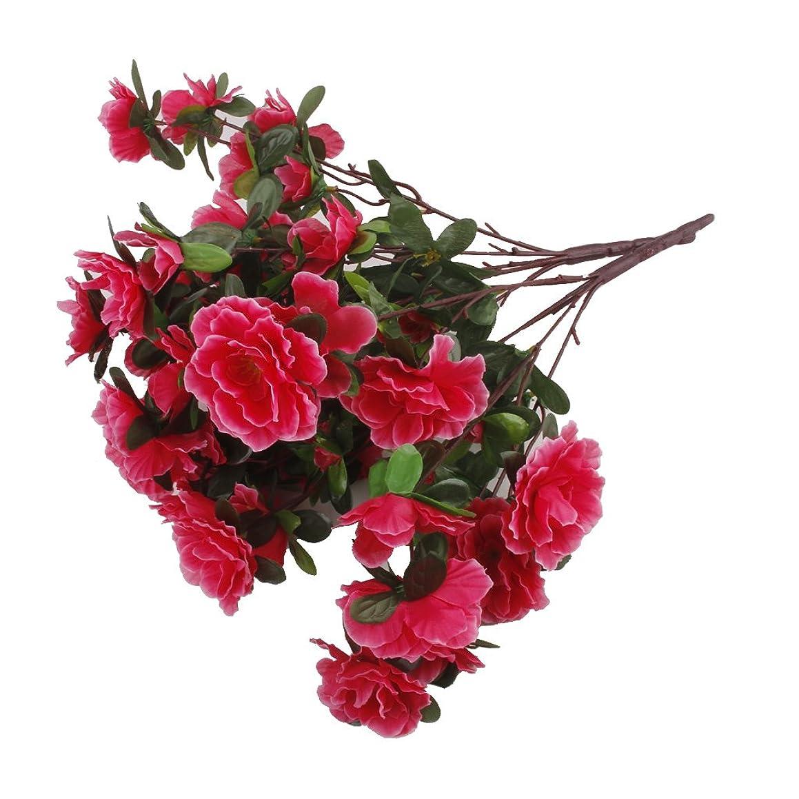 実質的に摂動全滅させる2房偽のツツジ造花花束結婚式の家の装飾は、赤いバラ