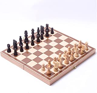 Little star Wooden Chess Set Pieces wood with Board Storage Box Christmas Gift Kids Toy International Chess