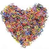 2000 piezas Goma de Pelo Mini bandas Multicolor Lazo de Pelo Elástico Banda de Goma para Niñas Bebés, Especialmente para Niñas Pequeñas