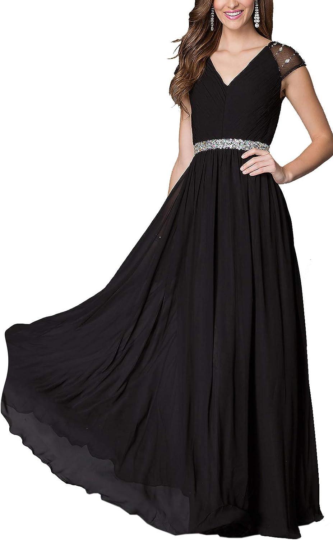 Aox Women Summer Elegant Short Sleeve Chiffon Dress Plus Size Party Holiday Blouse Top T Shirt Midi Skirt with Bead