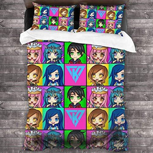 Biilyy Funneh-krew Juego de sábanas de 3 piezas 86'x70' suave cama funda de almohada para dormir juegos