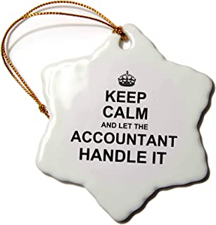 3dRose Keep Calm and Let The Accountant Handle it Snowflake Ornament, 3