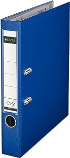 Leitz 10155068 Qualitäts Ordner (Plastik Cover, A4, 8 cm Rückenbreite), Midnight Blue