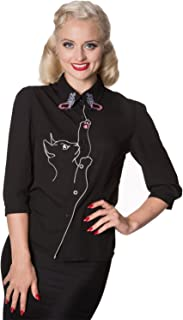 Banned Retro Vintage Cat and Butterfly Shirt