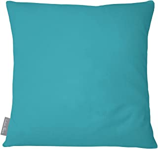 Izabela Peters Designer Luxury Outdoor Cushion Pillow Garden Waterproof Rattan Sofa - Prussian Blue -Signature Color Collection - Designed, Printed & Handmade in the UK (Choice of Colorway)