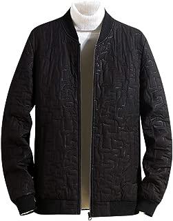 Men's Casual Pure Color Zip up Pocket Outwear Long Sleeve Short Outwear Coat Jacket