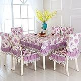 BLUELSS 13pcs/set de manteles rectangulares manteles bordados florales para bodas, Mesa De Comedor cubiertas con fundas para sillas toalha de mesa,mudanzi,acerca de 150x200cm