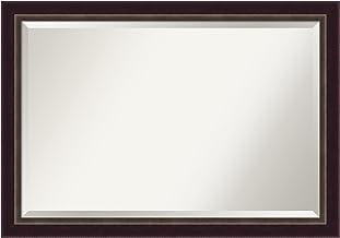 Amanti Art Espelho de parede de madeira (71,6 x 102,08 cm), moldura de bronze Signore - espelho de banheiro, espelho de pe...