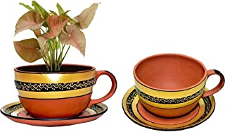 9 Inch Dia Terracotta Clay pots with Drain Hole Unglazed Bonsai Planter for Cacuts/Succulent Plants for Indoor/Outdoor