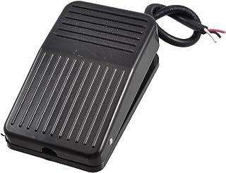 uxcell ケーブルモーメンタリフットコントローラーのペダルスイッチ フットペダルスイッチ 20cmW TFS-01 AC 250V 10A