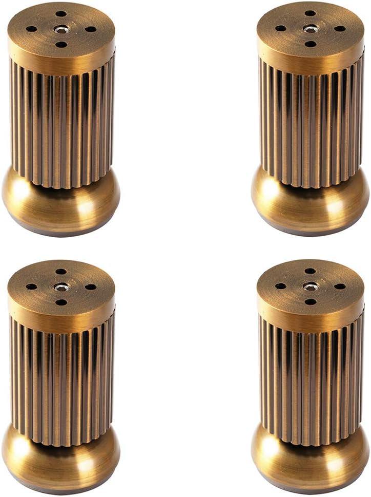 Metal Patas para Muebles 4 Piezas,Cil/índricas Patas de Sof/á,Aleaci/ón de Aluminio Reemplazo Patas de Cama,Mesas Finales,Gabinete de Tv Ajustable,con Perno M8 6cm//2.4in,black
