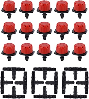 comprar comparacion JNCH 50 Pcs Goteros para Riego Cabeza para riego por Goteo + 50 Pcs Conector para Tubo de riego por Goteo de 4/7mm - Kit r...