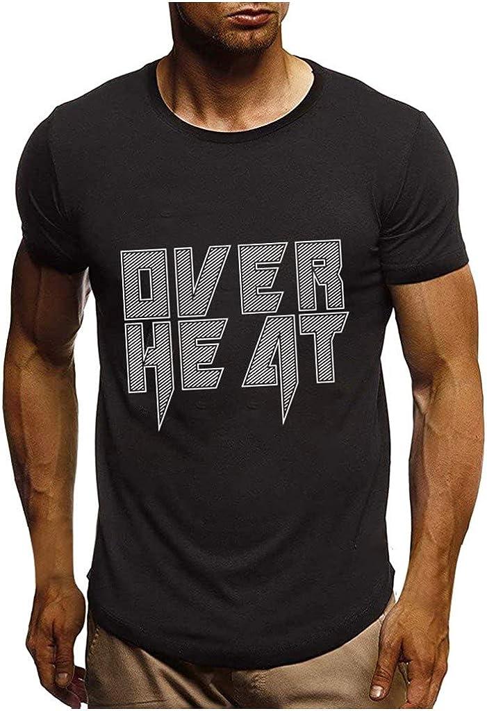 MODOQO Men's T-Shirt Casual Outdoor Short Sleeve Sports Summer Loose Fit Tee Tops