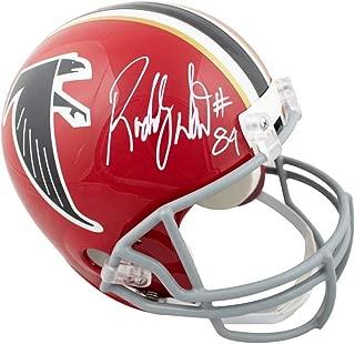 Roddy White Autographed Atlanta Falcons Red Full-Size Football Helmet - JSA COA