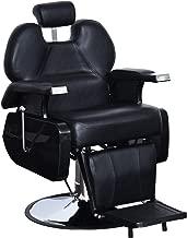 BarberPub Heavy Duty Reclining Barber Chair All Purpose Hydraulic Salon Chair for Barbershop Stylist Tattoo Chair 2687 (Black)