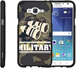 TurtleArmor | Compatible with Samsung Galaxy J7 Case (2015) | J700 [Slim Duo] Ultra Slim Hard Matte Coat Protector 2 Piece Snap On Cover on Black War and Military - Military Binoculars
