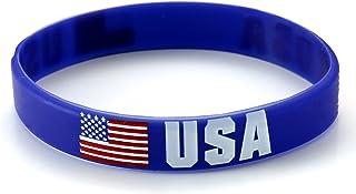 Komonee Serre-Poignets en Silicone USA World Cup World Olympics (Pack de 1)