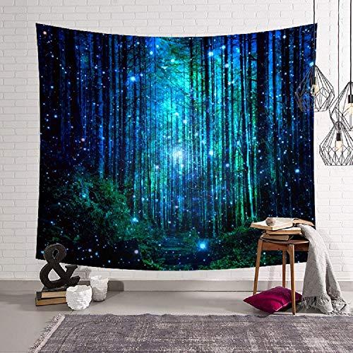 Bubunix Tapisserie Wandbehang Schlafzimmer Wohnzimmer Hänge Bohemian Sternenhimmel Mandala Wandteppich Milchstraße Raum Psychedelic Nebel Kopfteil Tagesdecke Tischdecke (Style 2)