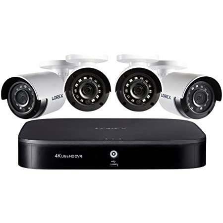 Lorex 4K 8 Channel 2TB DVR with 4 1080P Outdoor Cameras