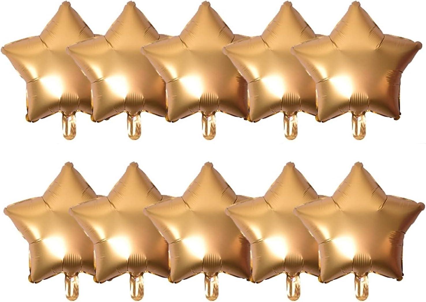 Soldering Children Party Balloons 10pc Confett Discount is also underway Gold Metallic Foil