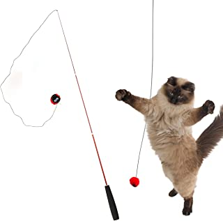 iCat FLYING CAT 釣りざお猫じゃらし てんとう虫ボール 猫 おもちゃ