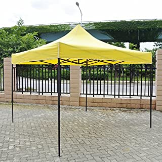 American Phoenix Canopy Tent 10x10 foot Green Party Tent Gazebo Canopy Commercial Fair Shelter Car Shelter Wedding Party Easy Pop Up - Yellow