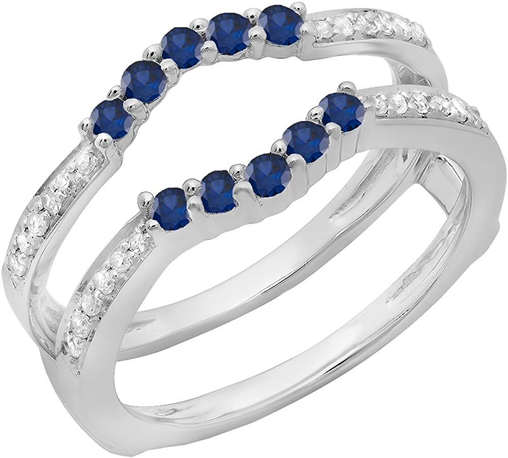 Max 89% OFF 14K White Gold Over .925 Sterling Blue Lab Silver Round Created Phoenix Mall