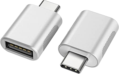 nonda nonda USB C to USB Adapter(2 Pack), Thunderbolt 3 to USB Female Adapter OTG for MacBook Pro 2019 and More Type-C Devices,Silver,NDMASLLCM product image