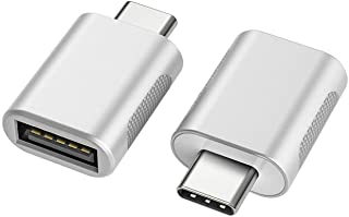 nonda USB C to USB Adapter(2 Pack),USB-C to USB 3.0 Adapter,USB Type-C to USB,Thunderbolt 3 to USB Female Adapter OTG for MacBook Pro 2019,MacBook Air 2020,iPad Pro 2020,More Type-C Devices(Silver)