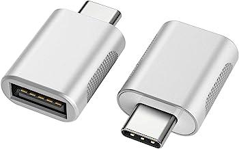 nonda Adaptador USB C a USB 3.0 (2 Pack), Adaptador USB-C a USB, USB Tipo-C a USB, Thunderbolt 3 a Adaptador USB Hembra OT...