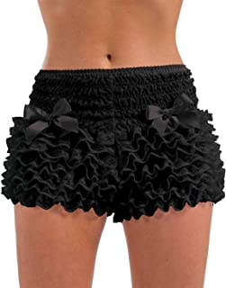 Womens Ruffle Pants Adults Burlesque Frilly Shorts Lace Costume Accessory
