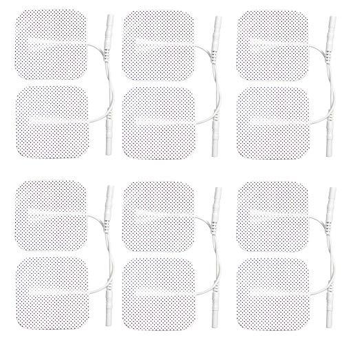 12 x Tens Electrodos compresas,repuestos (3 PAQUETES DE 4), Espalda, Caderas, Pierna, Trabajo alivio del dolor 2